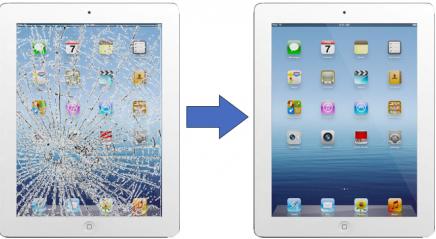 Заменить экран на iPad
